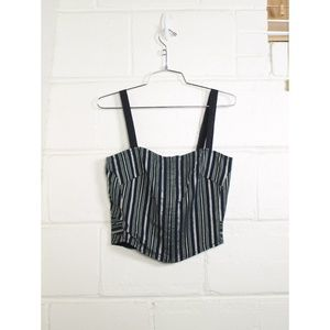 Marc by Marc Jacobs striped corset camisole top